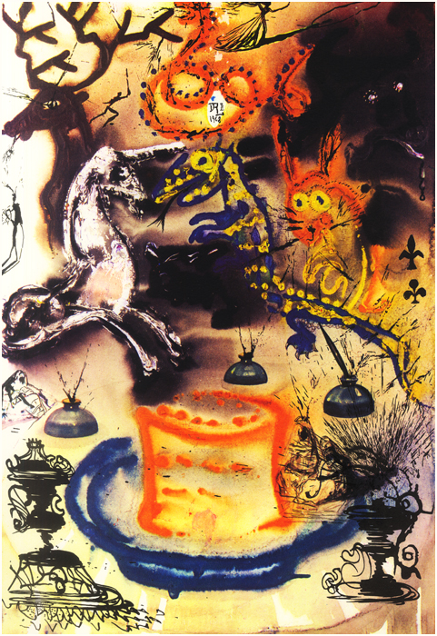 Salvador Dalí's Illustrations for Alice in Wonderland